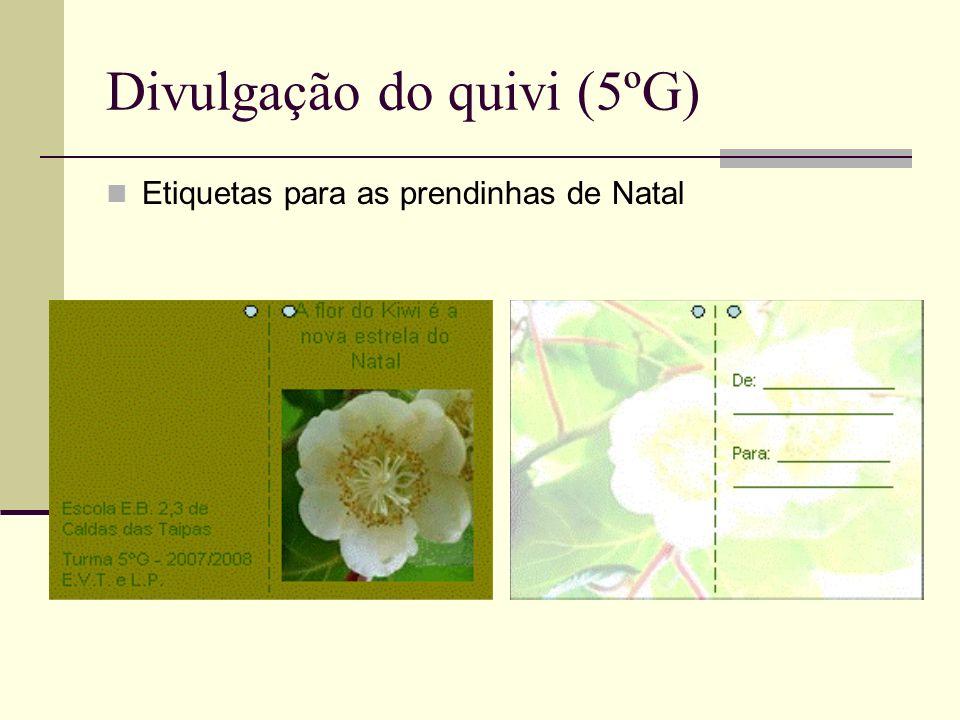 Divulgação do quivi (5ºG) Etiquetas para as prendinhas de Natal