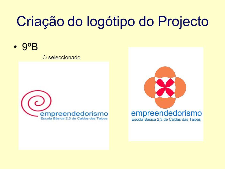 Criação do logótipo do Projecto 9ºB O seleccionado