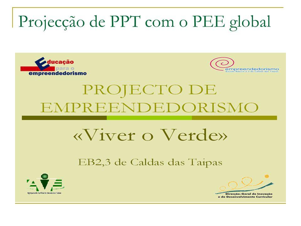 Projecção de PPT com o PEE global