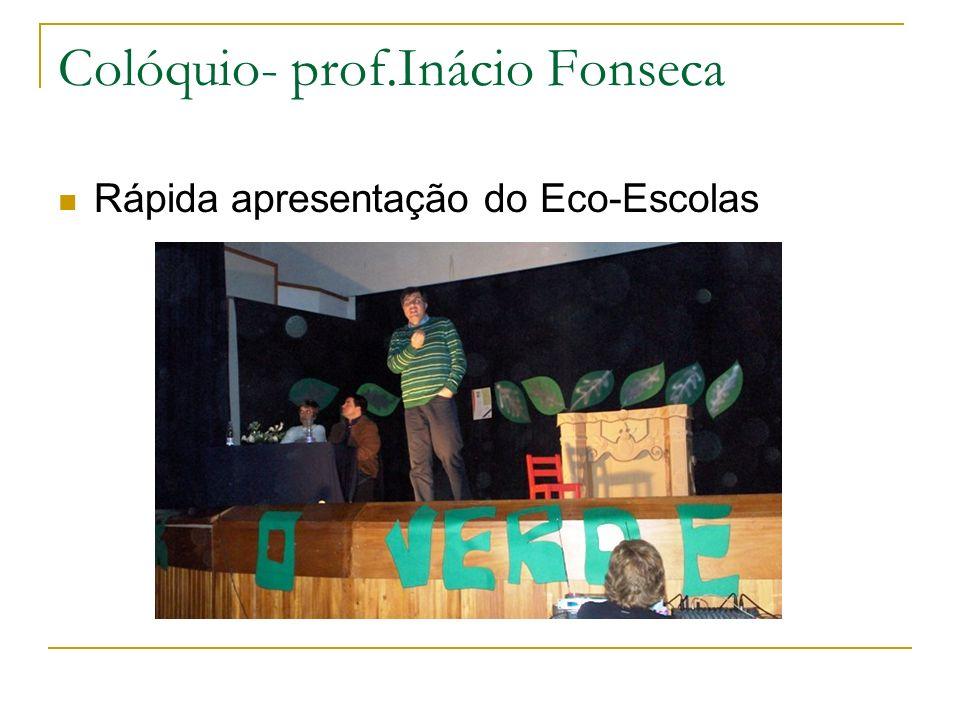 Colóquio- prof.Inácio Fonseca Rápida apresentação do Eco-Escolas
