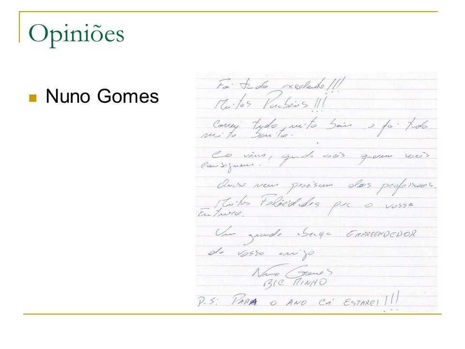 Opiniões Nuno Gomes