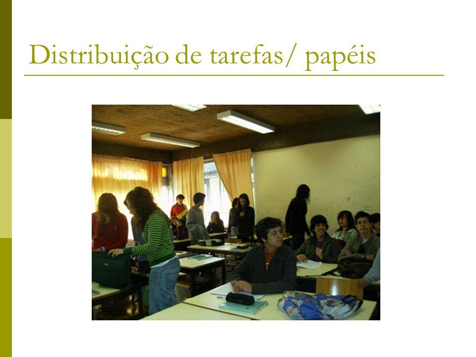 Distribuição de tarefas/ papéis