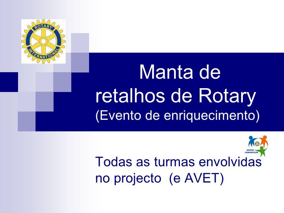 Manta de retalhos de Rotary (Evento de enriquecimento) Todas as turmas envolvidas no projecto (e AVET)