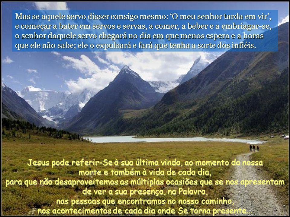 Disse Pedro a Jesus: – Senhor, é para nós que dizes esta parábola, ou também para todos os outros? O Senhor respondeu: – Quem é o administrador fiel e