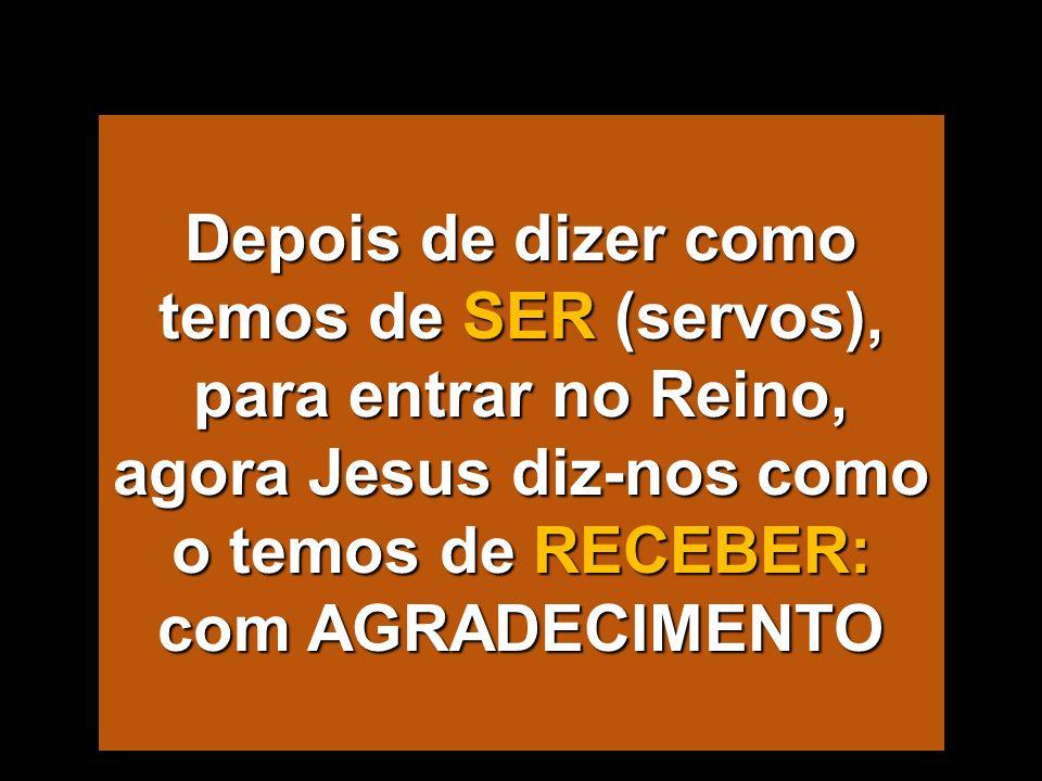 MAR MEDITERRANI - Há que entrar pela porta estreita (Dom 21) - Convidados para o Banquete do Reino (Dom 22) - Condições para participar (Dom 23) - Os PECADORES entram nele (Dom 24) - Valor do dinheiro diante do Reino (Dom 25- 26) - A FÉ faz-nos Servos sem méritos (Dom 27) - Receber o Reino com agradecimento (Dom 28) O Reino já está aqui: - Roguemos insistentemente (Dom 29) - Orando como o publicano (Dom 30) - O Reino entra em casa de Zaqueu (Dom 31) O Reino já está aqui: - Roguemos insistentemente (Dom 29) - Orando como o publicano (Dom 30) - O Reino entra em casa de Zaqueu (Dom 31) B- O Reino para onde VAMOS Lc 13, 22 a 19, 27 B- O Reino para onde VAMOS Lc 13, 22 a 19, 27