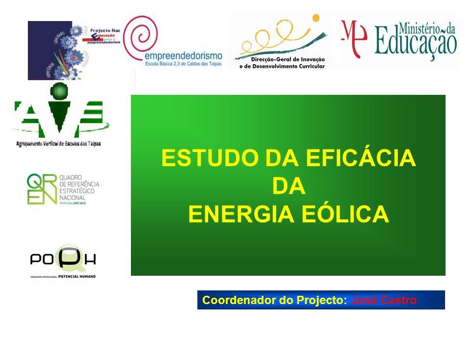 ESTUDO DA EFICÁCIA DA ENERGIA EÓLICA Coordenador do Projecto: José Castro