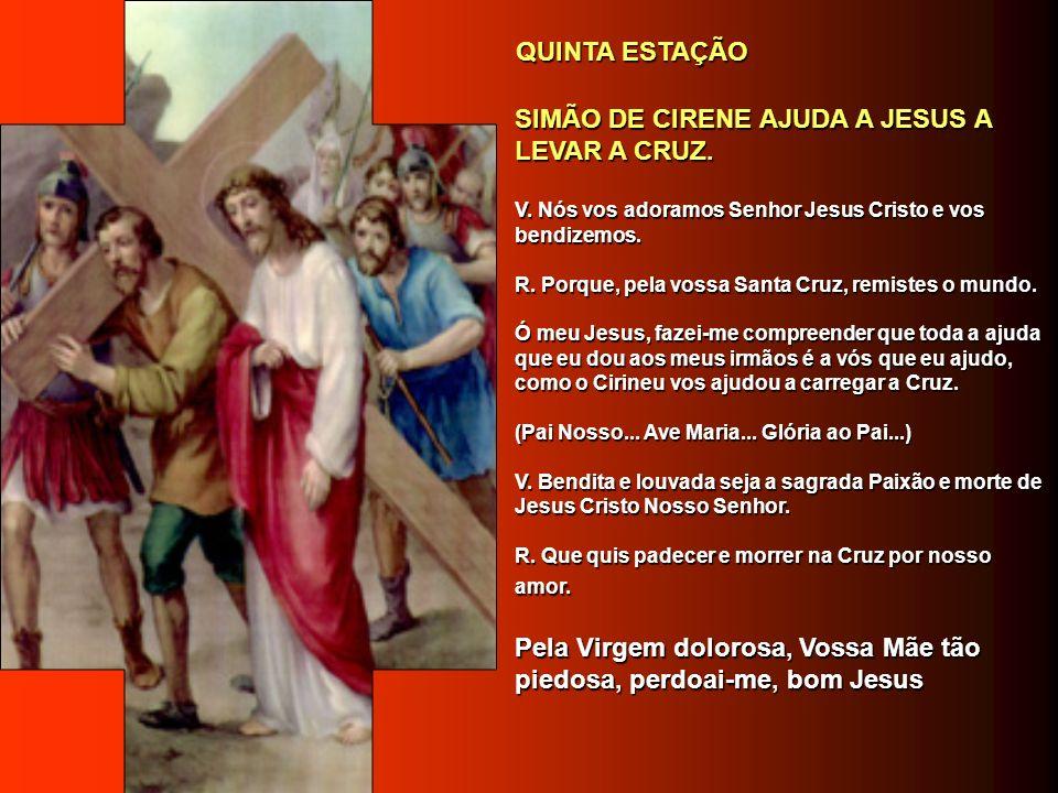 SIMÃO DE CIRENE AJUDA A JESUS A LEVAR A CRUZ.SIMÃO DE CIRENE AJUDA A JESUS A LEVAR A CRUZ.