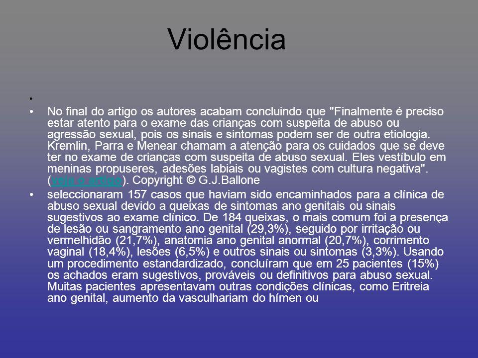 A VIOLÊNCIA Pode ser dividida em violência física quando envolve agressão directa, contra pessoas queridas do agredido ou destruição de objectos e pertences do mesmo; violência psicológica quando envolve agressão verbal, ameaças, gestos e posturas agressivas; e violência sócio-económica, quando envolve o controle da vida social da vítima ou de seus recursos económicos.