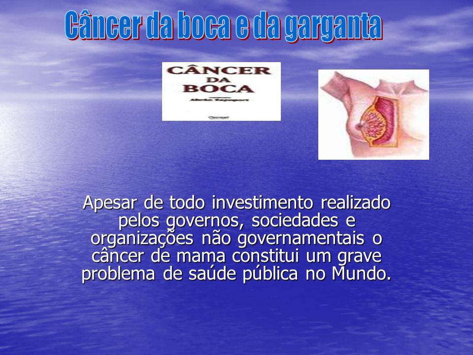 Apesar de todo investimento realizado pelos governos, sociedades e organizações não governamentais o câncer de mama constitui um grave problema de saú