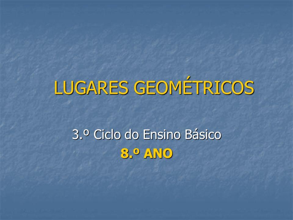 LUGARES GEOMÉTRICOS 3.º Ciclo do Ensino Básico 8.º ANO