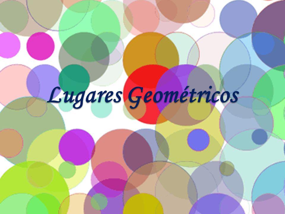 Lugar geométrico é o conjunto de todos os pontos que têm uma propriedade comum.