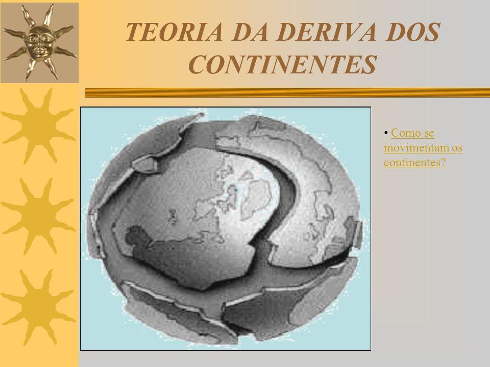 TEORIA DA DERIVA DOS CONTINENTES Como se movimentam os continentes?Como se movimentam os continentes?