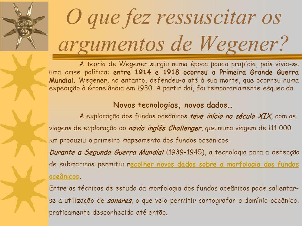 O que fez ressuscitar os argumentos de Wegener.