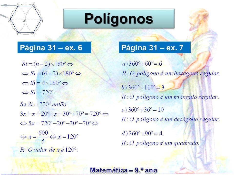 Página 31 – ex. 6 PolígonosPolígonos Página 31 – ex. 7