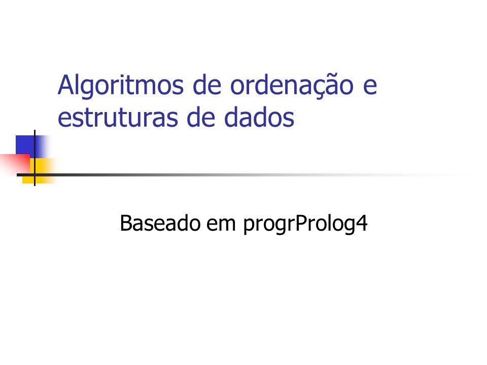 Algoritmos de ordenação e estruturas de dados Baseado em progrProlog4