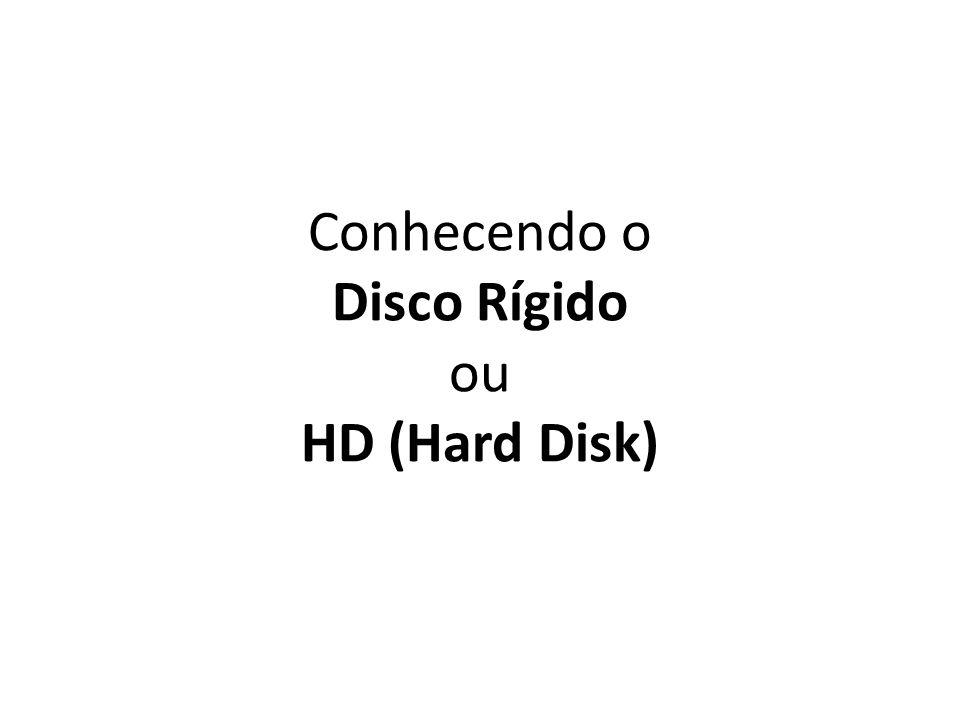Conhecendo o Disco Rígido ou HD (Hard Disk)