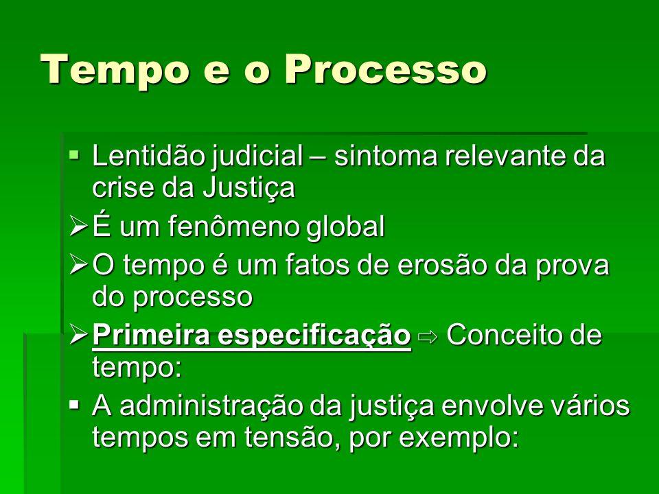 Tempo e o Processo Lentidão judicial – sintoma relevante da crise da Justiça Lentidão judicial – sintoma relevante da crise da Justiça É um fenômeno g