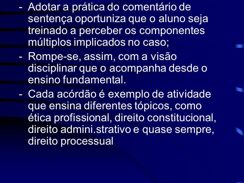 1º EXEMPLO Qualificação dos fatos: - Autor: ocorreu no caso em tela discriminação contra o réu, em violação aos arts.