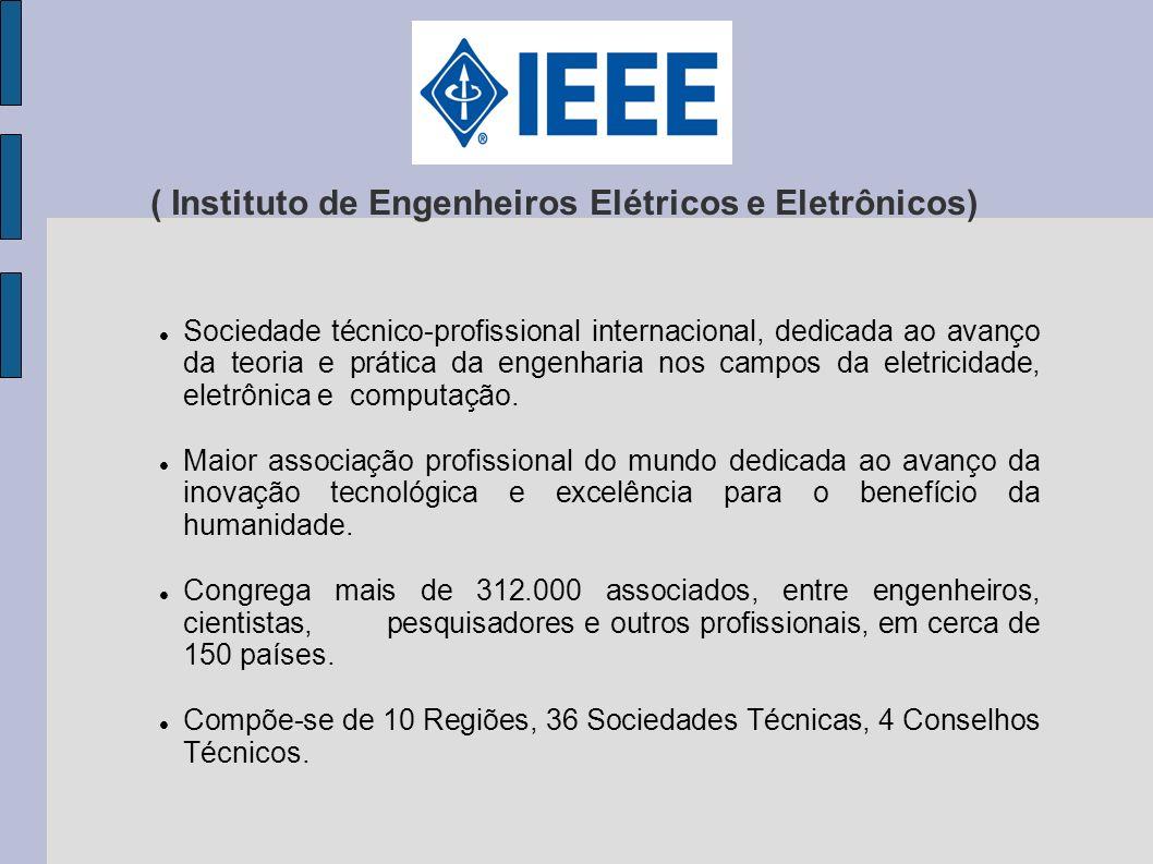 ( Instituto de Engenheiros Elétricos e Eletrônicos) Sociedade técnico-profissional internacional, dedicada ao avanço da teoria e prática da engenharia