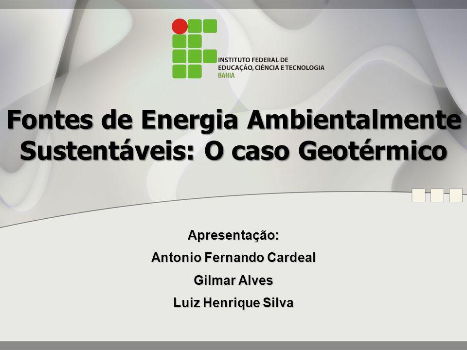 Energia Geotérmica: Uma Análise do Seu Panorama no Brasil e No Mundo e Algumas Perspectivas Futuras.