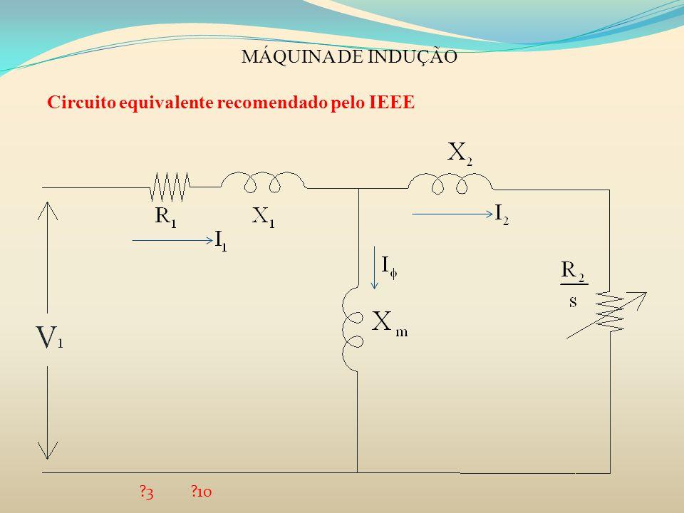 MÁQUINA DE INDUÇÃO Circuito equivalente recomendado pelo IEEE ?3?10