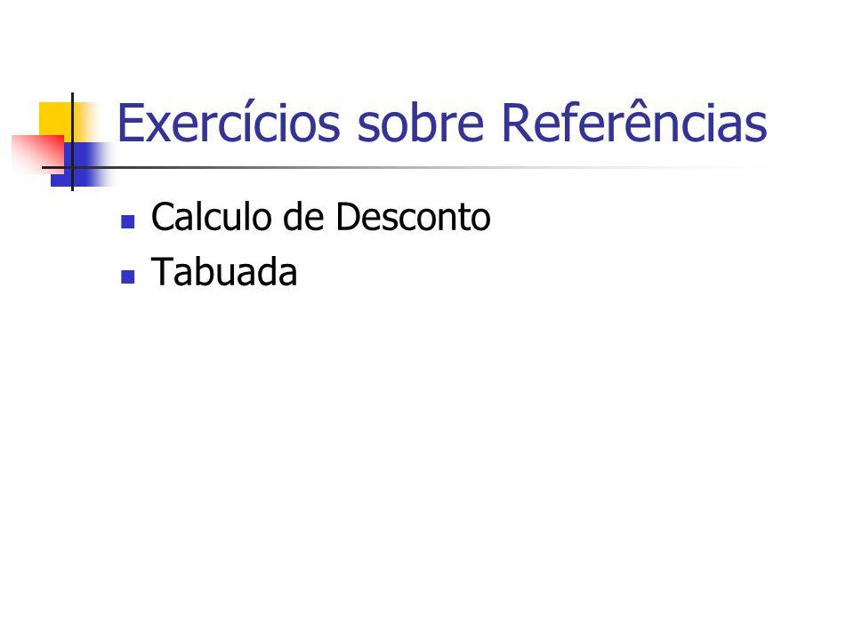Exercícios sobre Referências Calculo de Desconto Tabuada