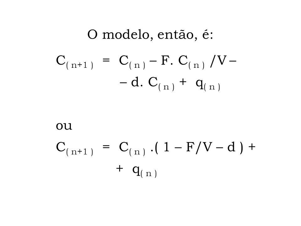 E quando há de tudo acontecendo: aporte, fluxo, degradação etc?... Nem P.Aritm. nem P.Geom., mas uma mistura das duas coisas! Modelagem matemática...