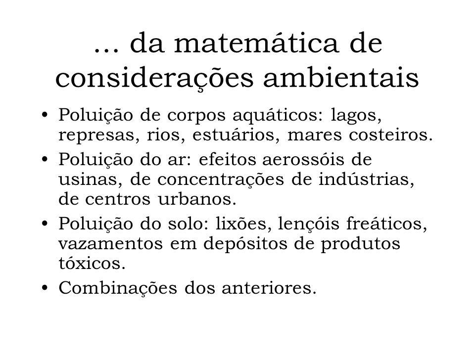 Fundamentos de modelagem matemática e técnicas de simulação aplicados a sistemas ambientais CESET, Limeira Março, 2005