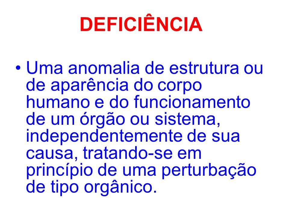 DEFICIÊNCIA MÚLTIPLA ASSOCIAÇÃO DE DUAS OU MAIS DEFICIÊNCIAS