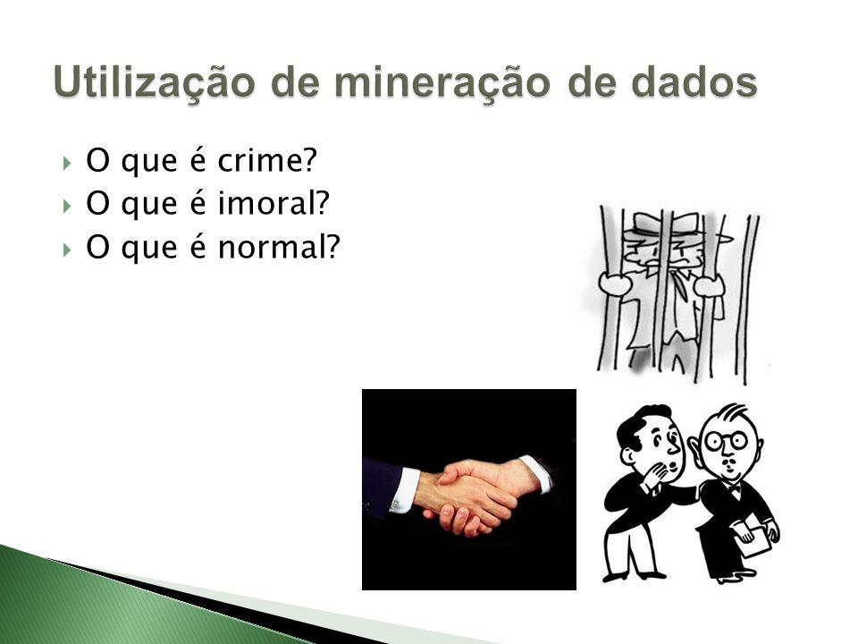 O que é crime? O que é imoral? O que é normal?