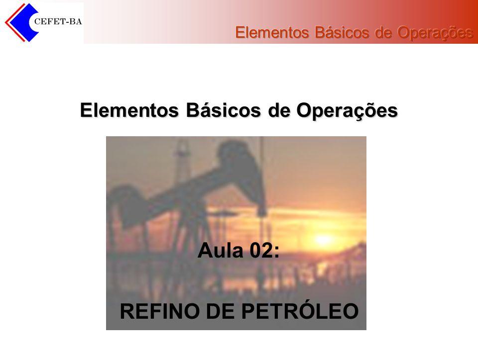 Elementos Básicos de Operações Aula 02: REFINO DE PETRÓLEO