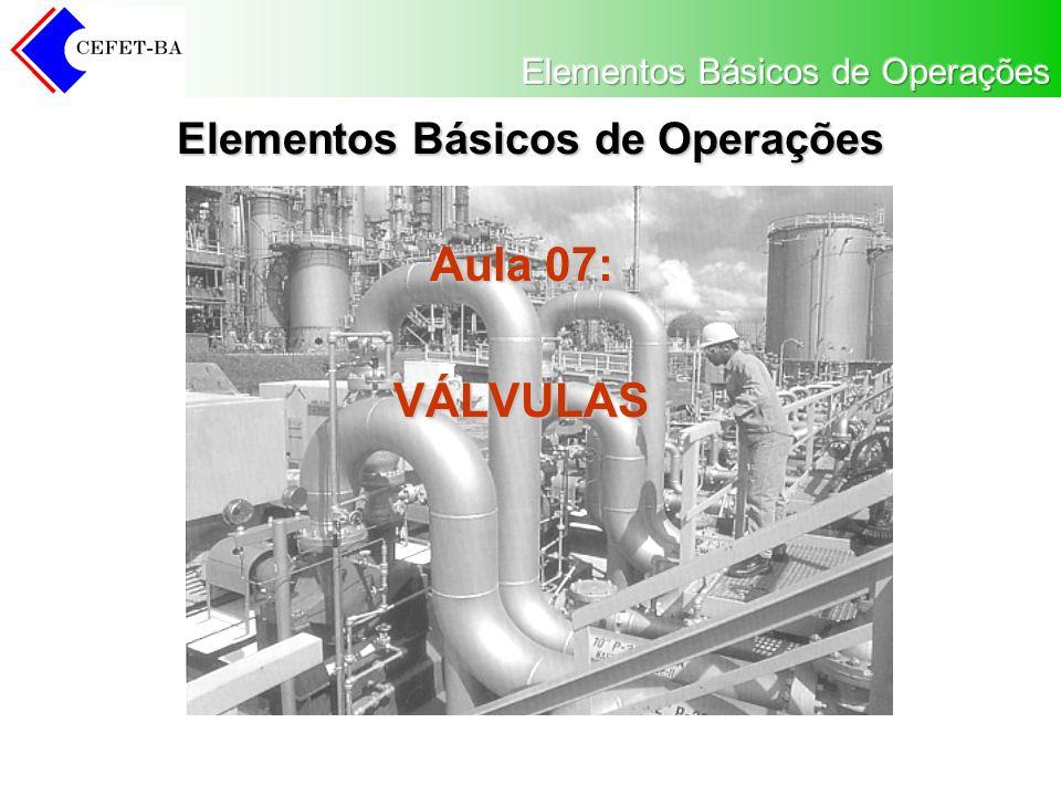 Elementos Básicos de Operações Aula 07: VÁLVULAS