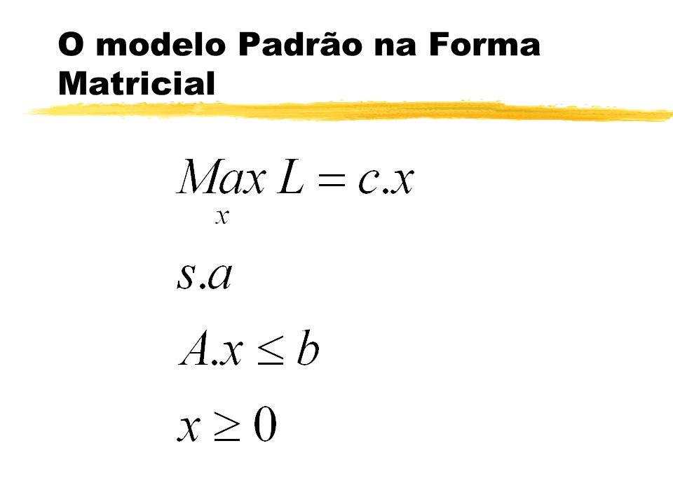 O modelo Padrão na Forma Matricial