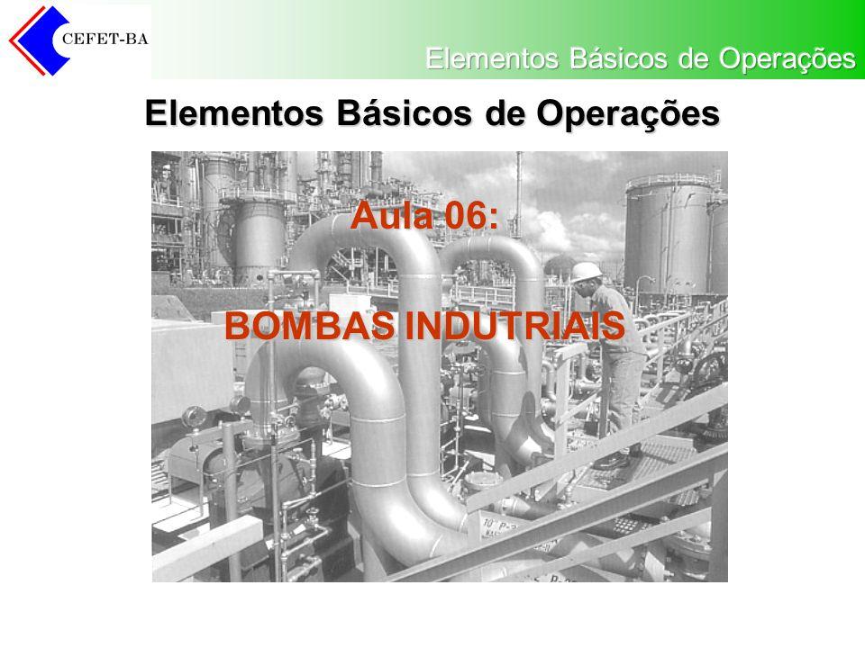 Elementos Básicos de Operações Aula 06: BOMBAS INDUTRIAIS