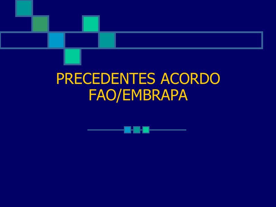 PRECEDENTES ACORDO FAO/EMBRAPA