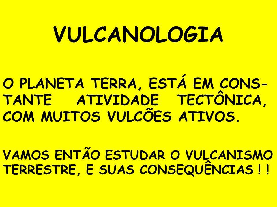 AS ERUPÇÕES VULCÂNICAS SÃO MANIFESTAÇÕES GRANDIOSAS, ESPETACULARES, E ATERRORIZAN- TES DA CROSTA TERRESTRE.