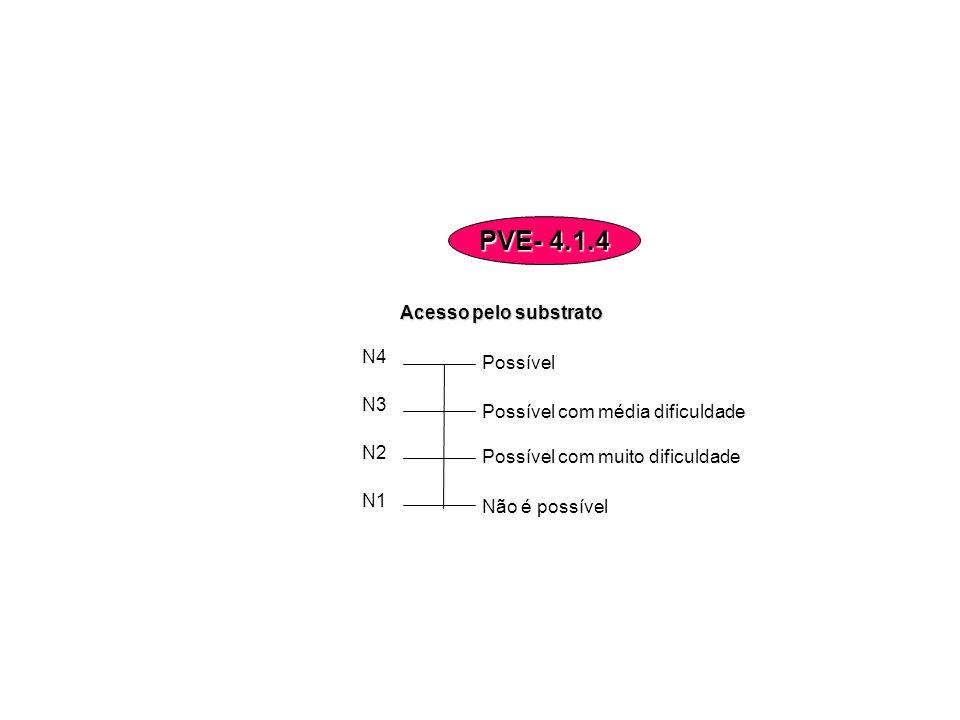 Acesso pelo substrato Não é possível Possível com muito dificuldade Possível com média dificuldade Possível N4 N3 N2 N1 PVE- 4.1.4