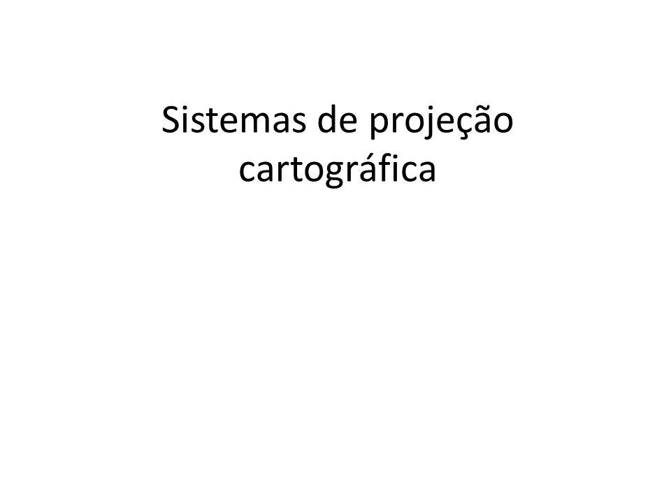 O problema das projeções cartográficas Como representar de uma superfície curva em um plano.