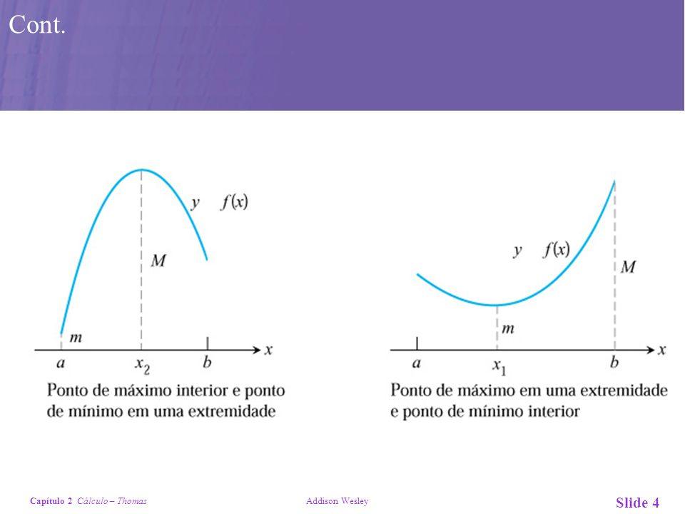 Capítulo 2 Cálculo – Thomas Addison Wesley Slide 4 Cont.