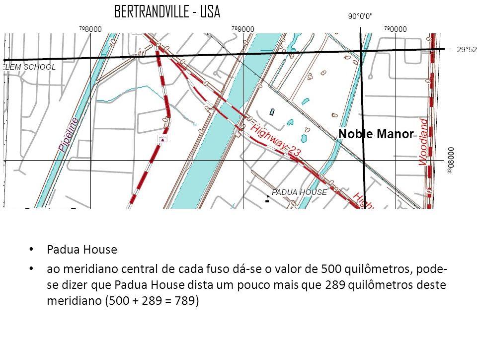 Padua House ao meridiano central de cada fuso dá-se o valor de 500 quilômetros, pode- se dizer que Padua House dista um pouco mais que 289 quilômetros