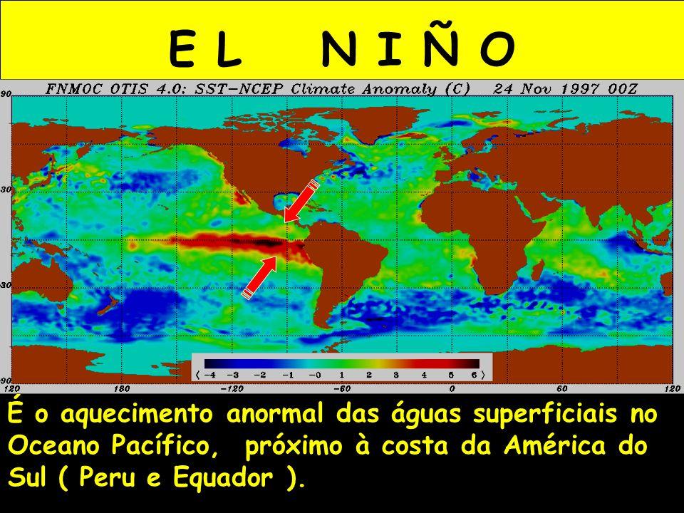 É o aquecimento anormal das águas superficiais no Oceano Pacífico, próximo à costa da América do Sul ( Peru e Equador ).