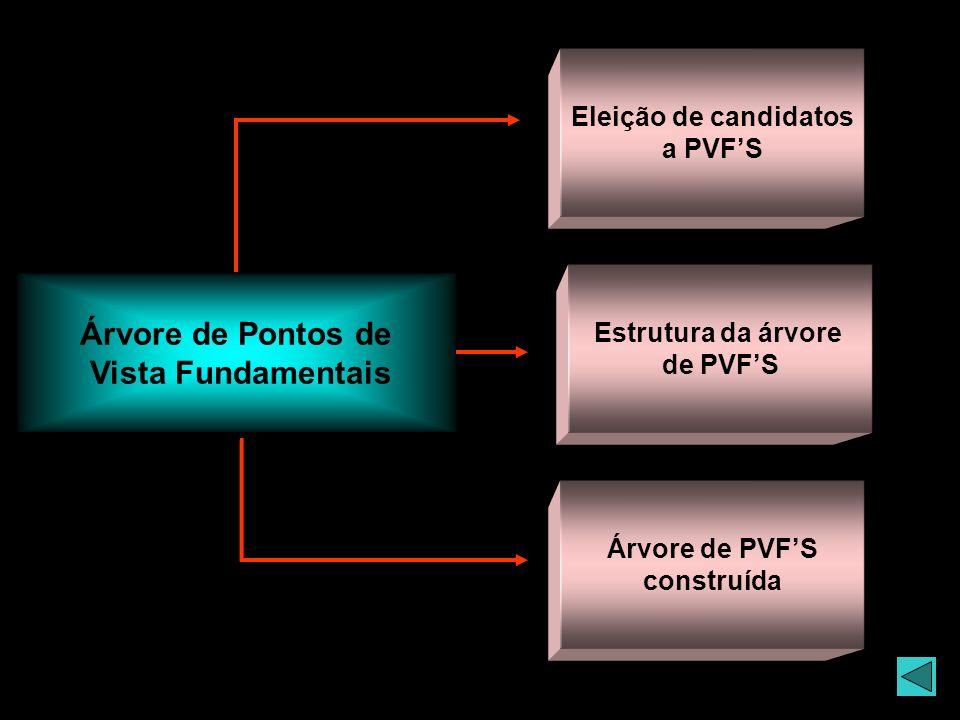Árvore de Pontos de Vista Fundamentais Eleição de candidatos a PVFS Estrutura da árvore de PVFS Árvore de PVFS construída