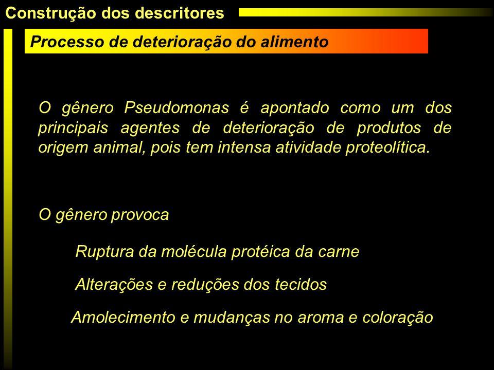 O gênero Pseudomonas é apontado como um dos principais agentes de deterioração de produtos de origem animal, pois tem intensa atividade proteolítica.