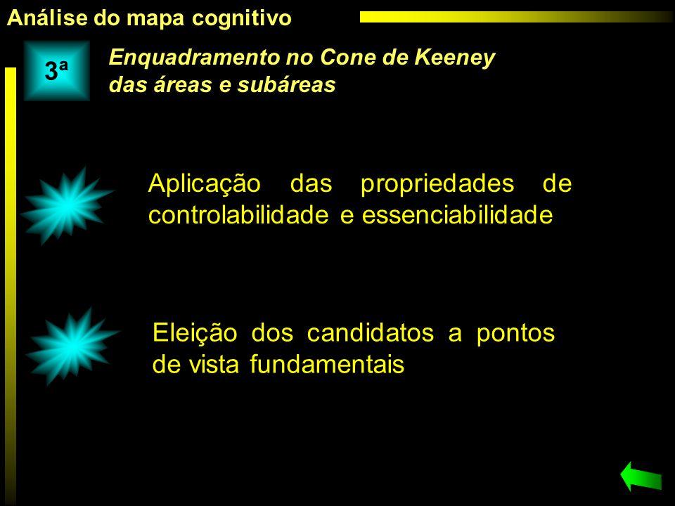 Aplicação das propriedades de controlabilidade e essenciabilidade Eleição dos candidatos a pontos de vista fundamentais Enquadramento no Cone de Keene