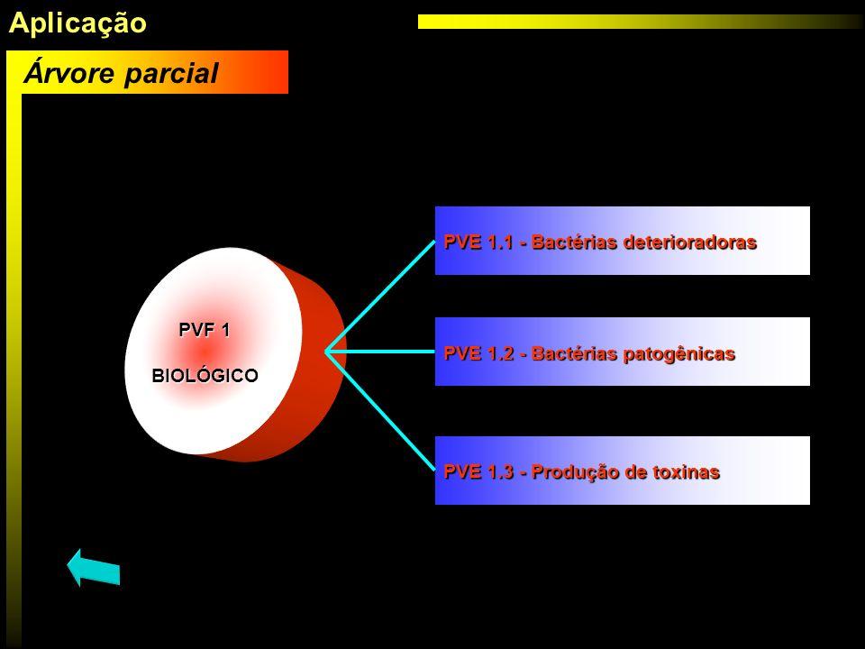 PVF 1 BIOLÓGICO Árvore parcial PVF 1 BIOLÓGICO PVF 1 PVF 1 BIOLÓGICO PVE 1.1 - Bactérias deterioradoras PVE 1.1 - Bactérias deterioradoras PVE 1.2 - B