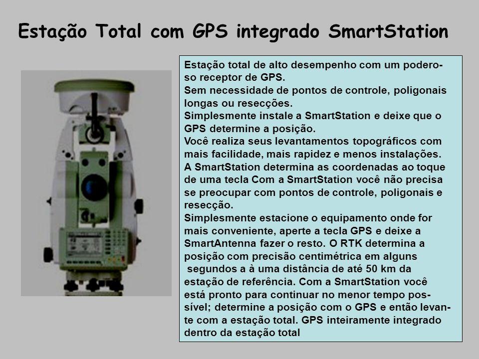 Estação Total com GPS integrado SmartStation Estação total de alto desempenho com um podero- so receptor de GPS. Sem necessidade de pontos de controle