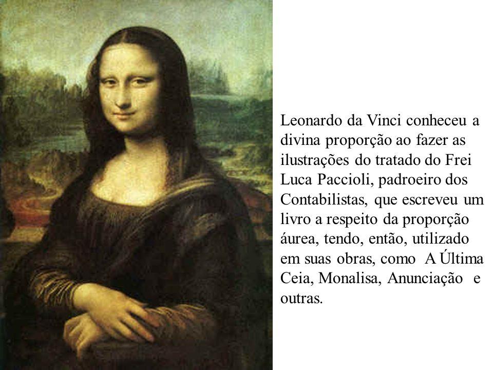 Leonardo da Vinci conheceu a divina proporção ao fazer as ilustrações do tratado do Frei Luca Paccioli, padroeiro dos Contabilistas, que escreveu um l