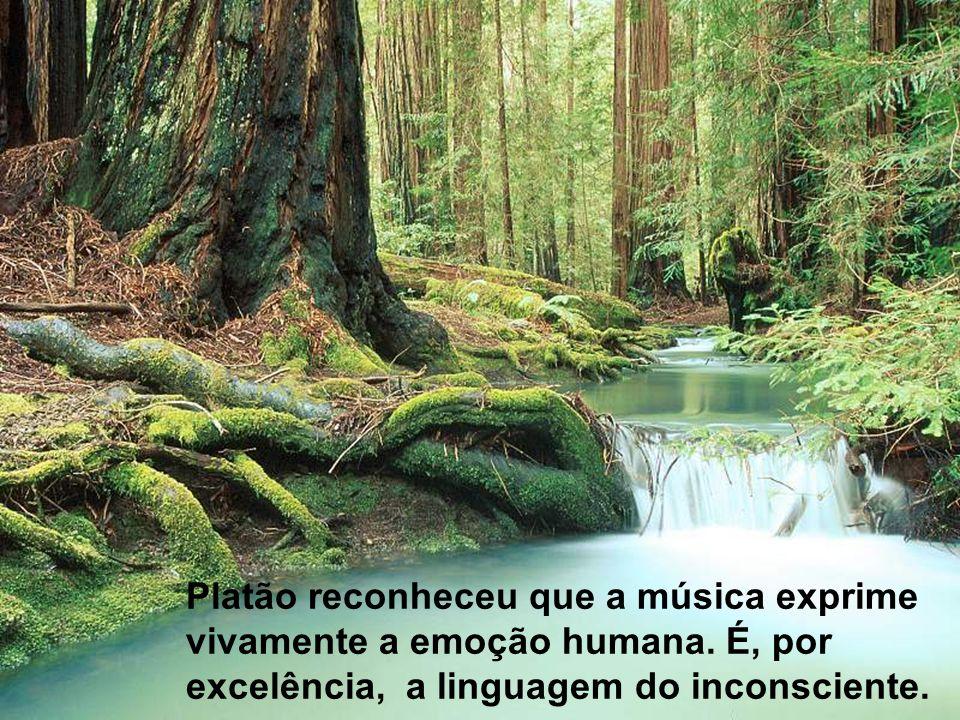 Platão reconheceu que a música exprime vivamente a emoção humana. É, por excelência, a linguagem do inconsciente.