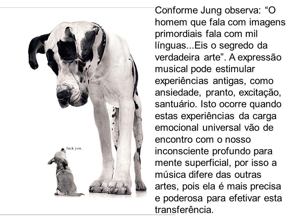 Conforme Jung observa: O homem que fala com imagens primordiais fala com mil línguas...Eis o segredo da verdadeira arte. A expressão musical pode esti