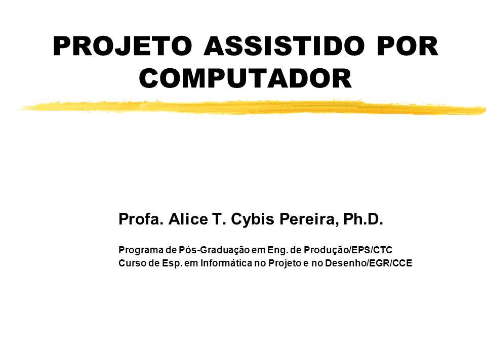 PROJETO ASSISTIDO POR COMPUTADOR Profa.Alice T. Cybis Pereira, Ph.D.